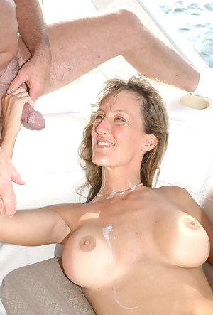 XXX Cum on Mature Tits Porn Pictures