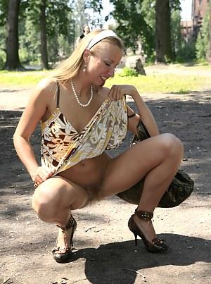 Pussy in public senior